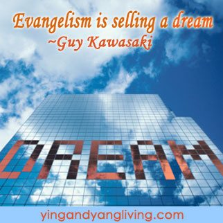 """Zen Message Building with """"Dream"""" on it by Guy Kawasaki"""