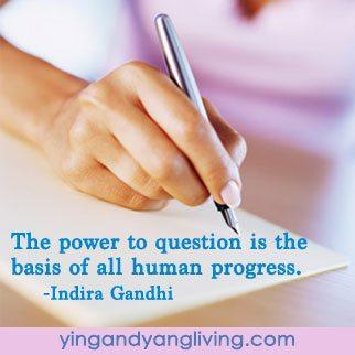 Zen Message Pen on Paper by Indira Gandhi