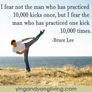 Zen Message: Karate Kick by Bruce Lee