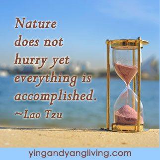Zen Message Hour Glass by Lao Tzu