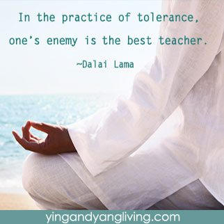 Ze Message Man Meditate on Beach Tolerance Dalai Lama