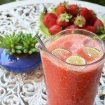 Strawberry Ginger Iced Summer Smoothie