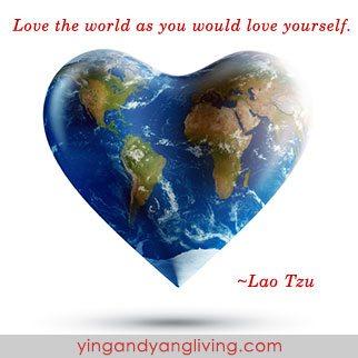 Zen Message Love the World Lao Tzu