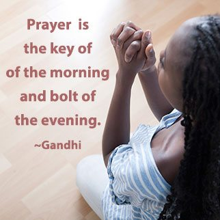 Black-Lady-Praying---Gandhi