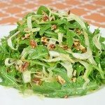 Arugula, Fennel & Pecan Salad with Sesame Orange Dressing