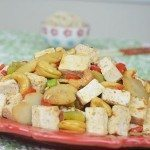 Cashew Tofu with Bamboo Shoot, Water Chestnut, Celery & Bell Pepper
