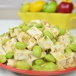 Edamame Tofu Salad with Edamame Sesame Dressing