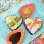 Heart Shaped Sushi Appetizer