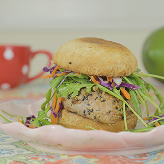 Gluten Free Asian Tuna Burger