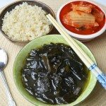 Brown Rice, Seaweed & Kimchi for Breakfast!